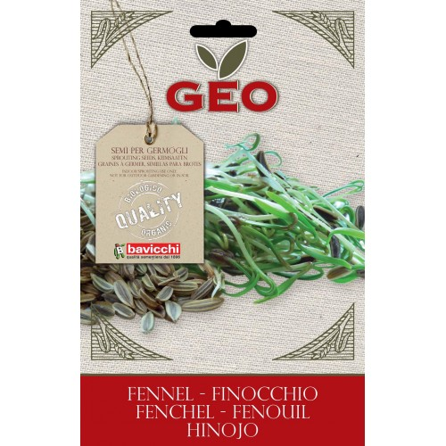 Fennel Organic Seed For Sprouts 8 gram Packet