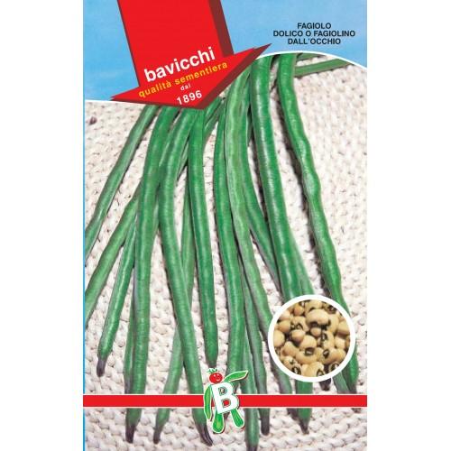 Bush Bean Seeds, Dall Occhio Black Eyed