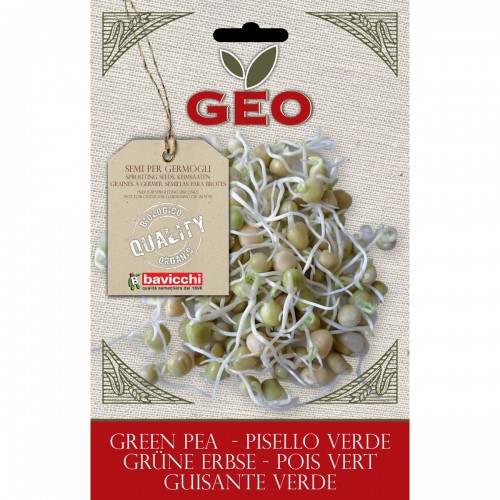 Green Pea Organic Seed for Sprouts 90 gram Packet