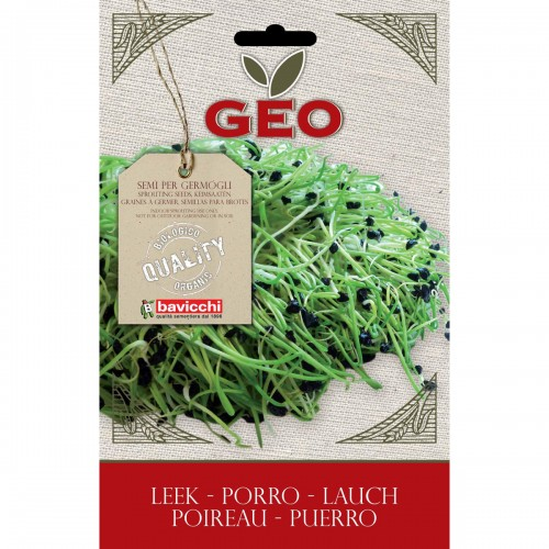 Leek Organic Seeds for Sprouting 4 gram Packet