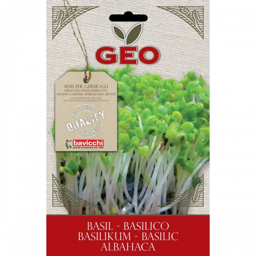 Basil Organic Seed for Sprouts 5 gram Packet