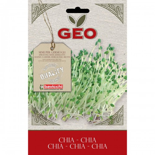 Chia Organic Seeds for Sprouts 13g Packet