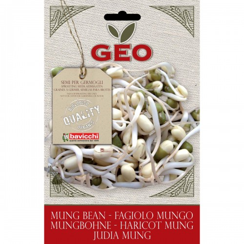 Mung Bean Organic Seed For Sprouts 90 gram Packet